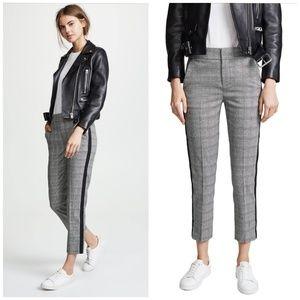 Joie | NWT Kenadia Cropped Side Stripe Plaid Pants
